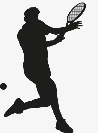 387x526 Tennis Silhouette Figures, Tennis, Character, Sketch Png