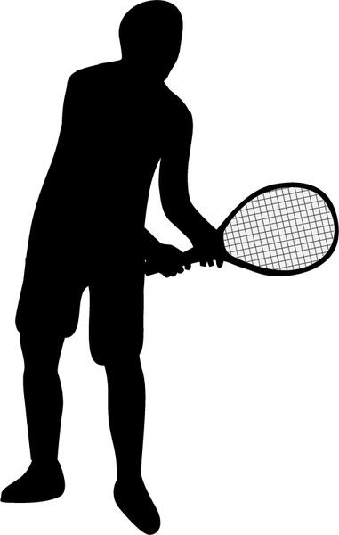 381x600 Tennis Player Silhouette Free Vector In Adobe Illustrator Ai ( Ai