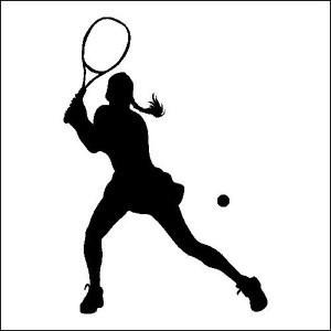 300x300 Girl Tennis Silhouette Clipart