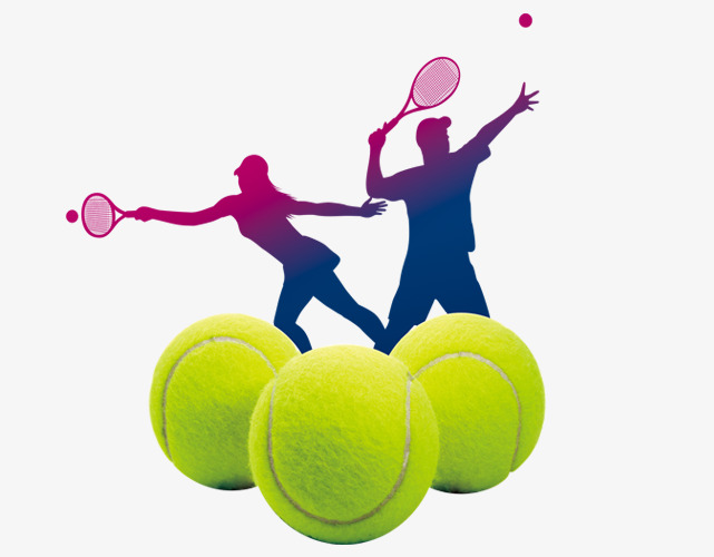 641x500 Tennis And Silhouette Figures, Tennis, Ball, Movement Png Image
