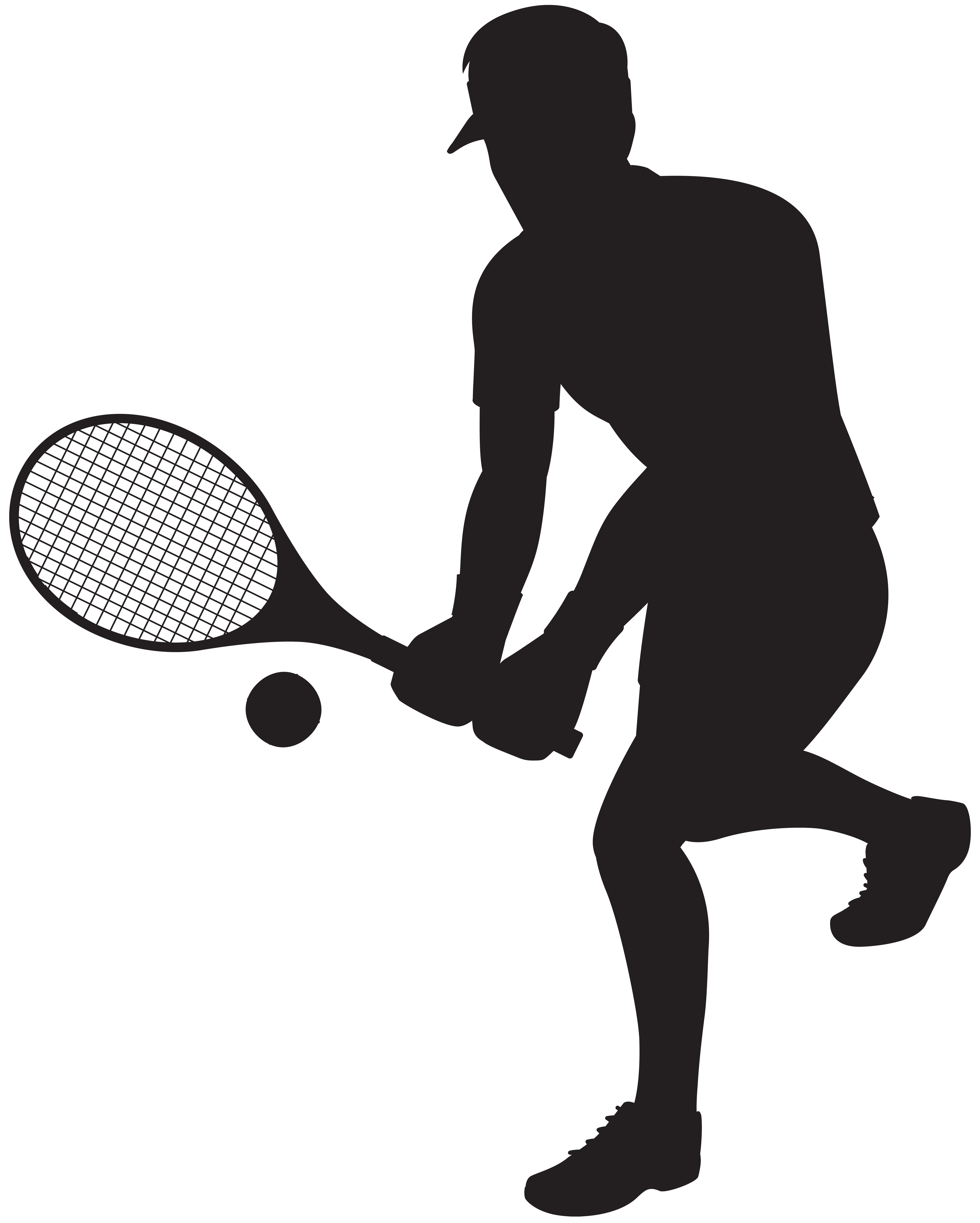 6410x8000 Tennis Player Silhouette Clip Art Imageu200b Gallery Yopriceville