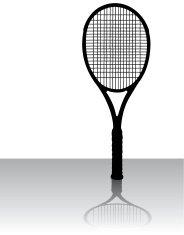 184x235 Tennis Racket Silhouettes Vector Premium Clipart