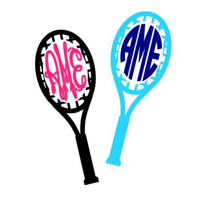 417x430 Tennis Racquet Monogram Instant Download Cut File