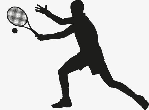 516x384 Tennis Silhouette Figures Vector, Man, Movement, Tennis Png