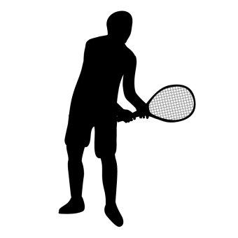 340x340 Tennis Racquet Clip Art Black And White