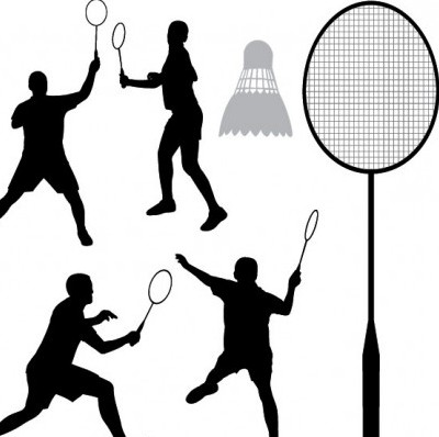 400x398 Vector Badminton Silhouette Silhouettes Vector Graphics