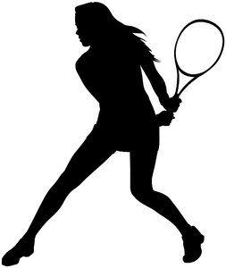 253x300 Girl Silhouette Tennis Silhouette Female Katagaci