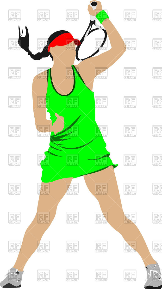 674x1200 Silhouette Of Female Tennis Player Royalty Free Vector Clip Art