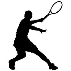 Tennis Serve Silhouette