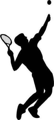 226x500 Clipart Tennis Silhouette Tennis Player Clipart