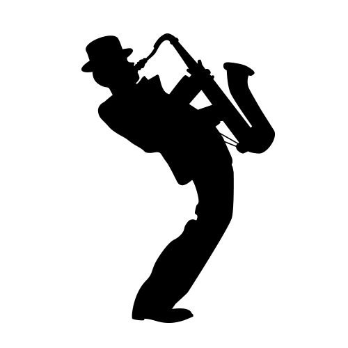 Tenor Saxophone Silhouette