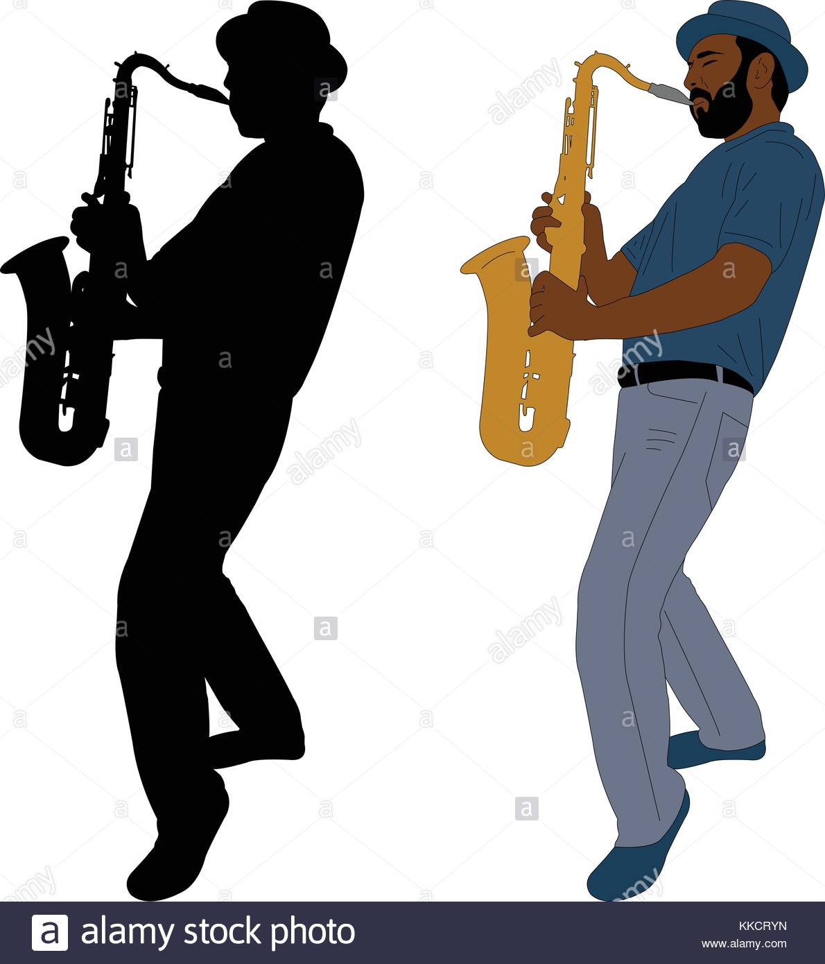 1190x1390 Saxophone Silhouette Stock Vector Images