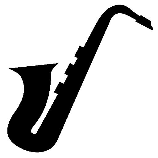 512x512 Saxophone Side View Silhouette Free Icon Saxofon