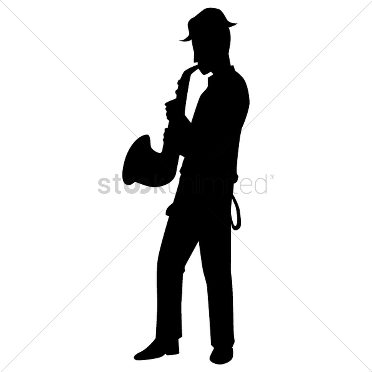 1300x1300 Silhouette Of Man Playing Saxophone Vector Image