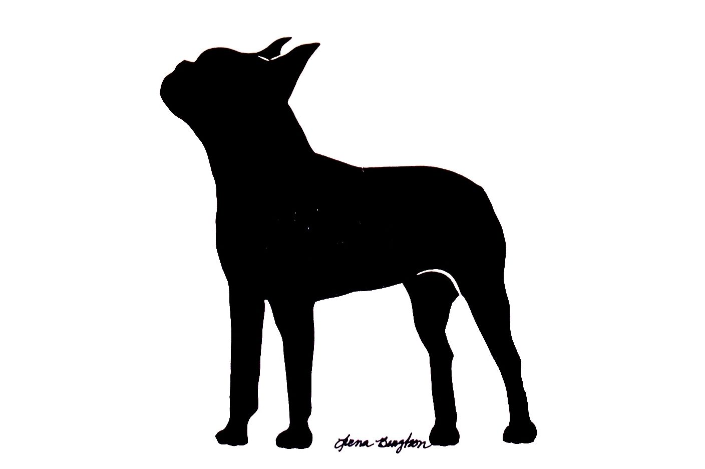 1408x936 Pix For Gt Boston Terrier Silhouette Crafts Terrier