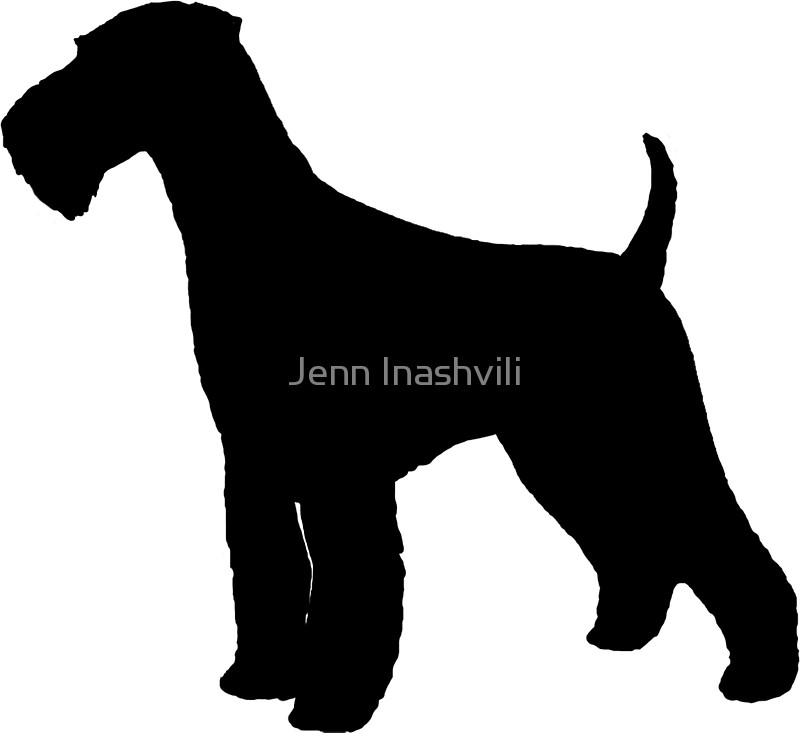 800x733 Airedale Terrier Silhouette(S) Stickers By Jenn Inashvili Redbubble