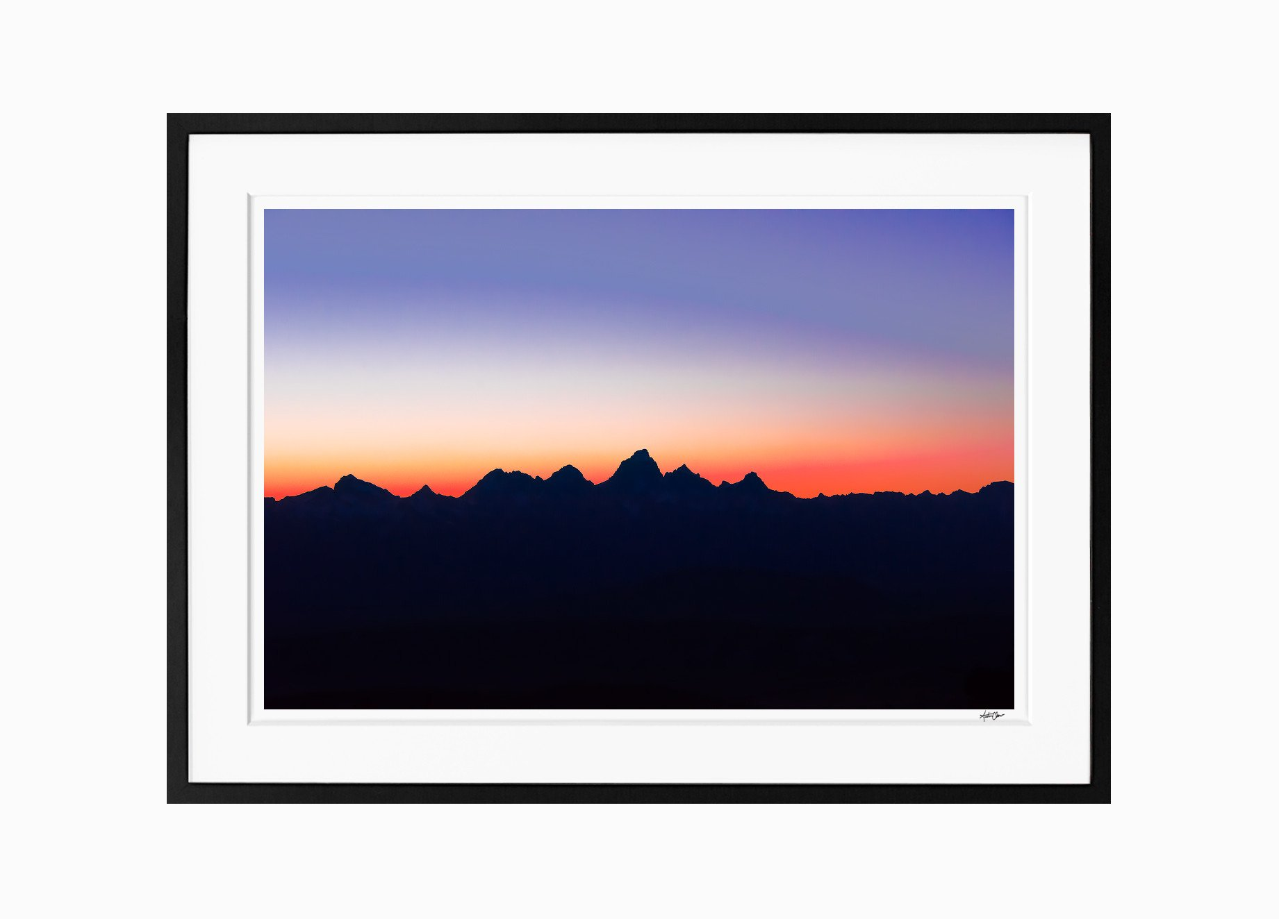 1841x1324 Paintbrush Silhouette The Grand Tetons, Wyoming Austin Chow