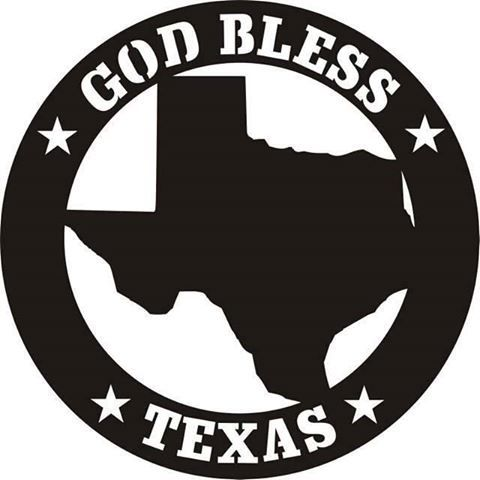 480x480 God Bless Texas Silhouette Silhouettes Texas