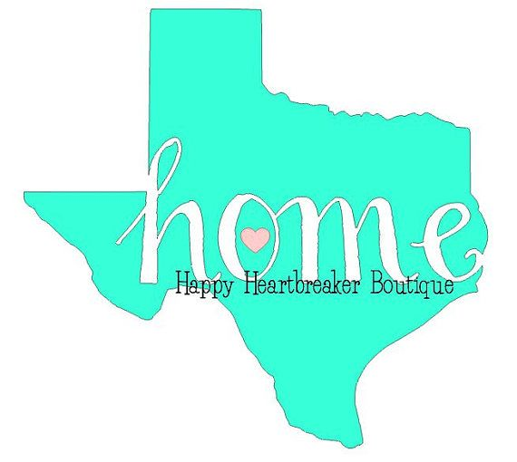 570x510 Home Sweet Texas Silhouette Cameo Cut File Silhouettes, Filing