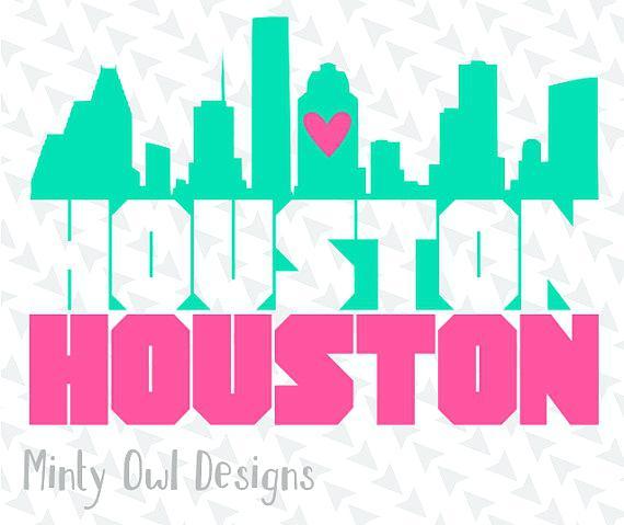 570x479 Houston Skyline Silhouette Skylne An Slhouette Mntyowldesgns