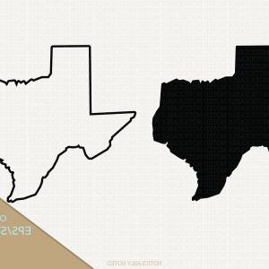 Texas Silhouette Vector