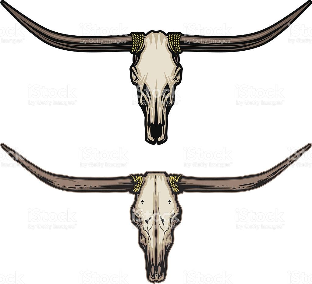 1024x931 Raging Texas Longhorn Bull Silhouettes Stock Vector 20752972