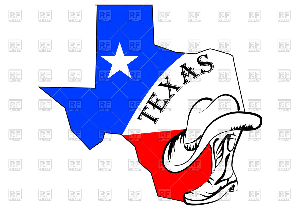 1200x849 Texas Abstract Map Royalty Free Vector Clip Art Image