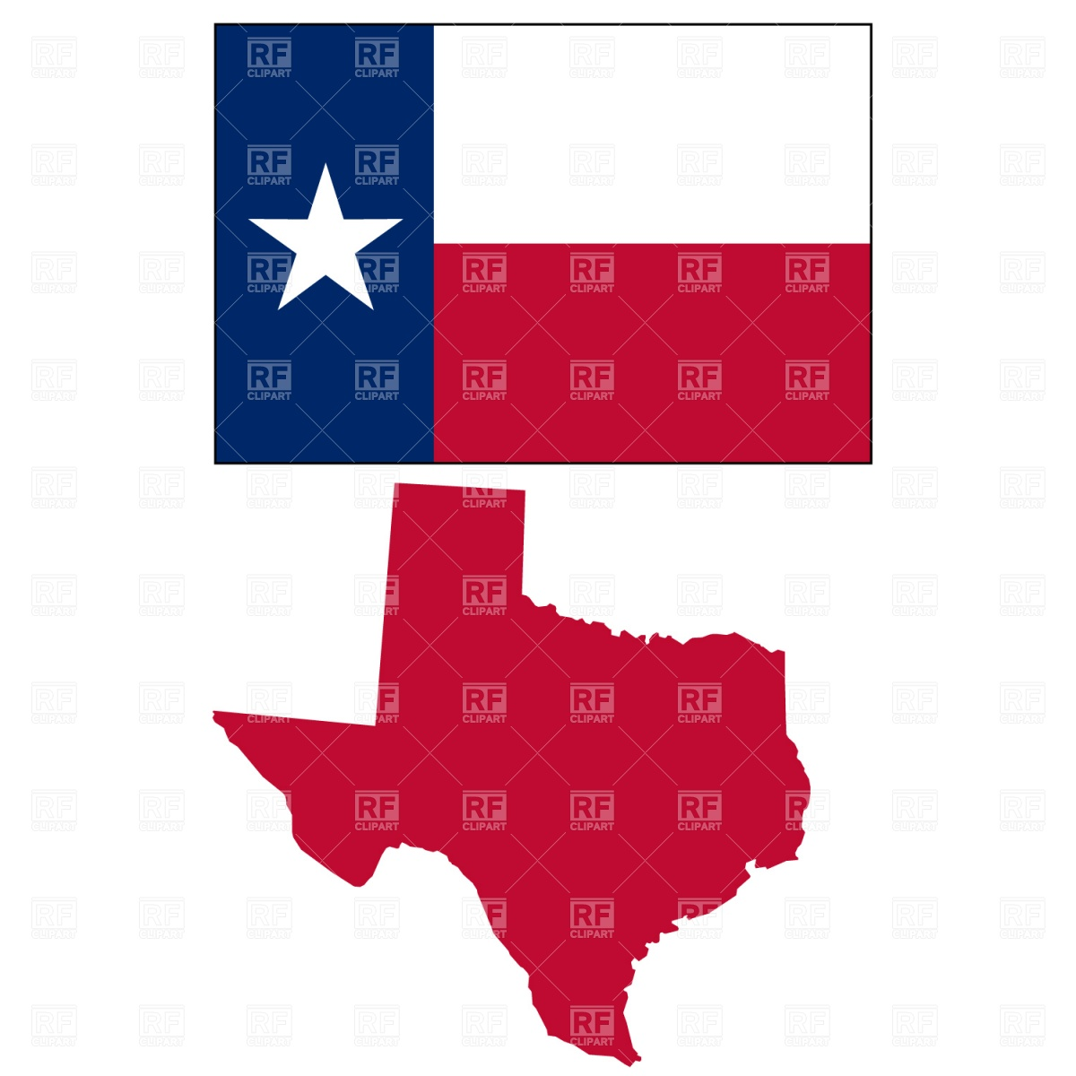 1200x1200 Texas State Map And Flag Royalty Free Vector Clip Art Image