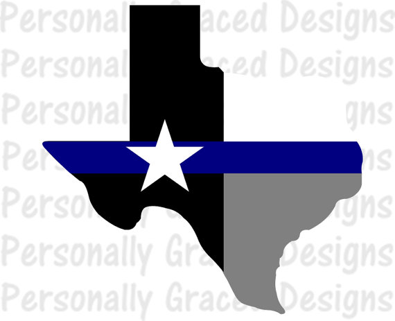 570x463 Svg Dxf Eps Cut File Texas State Flag Thin Blue Line Svg