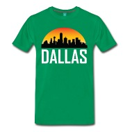 190x190 Sunset Skyline Silhouette Of Dallas Tx By Awesome Shirts Spreadshirt