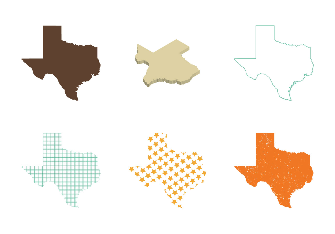1400x980 Texas State Free Vector Art