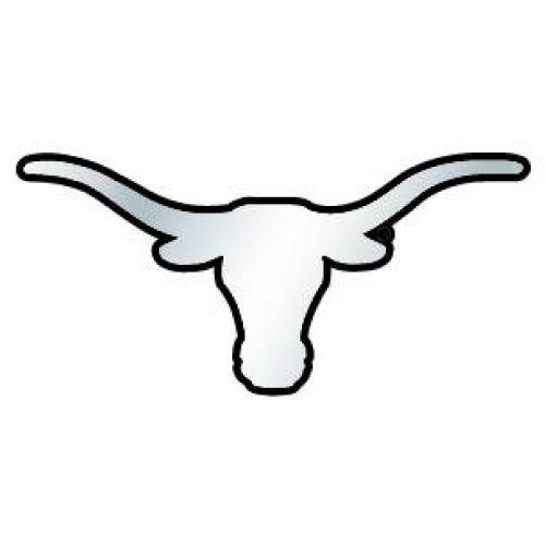 500x500 Texas Outline With Longhorn Clipart