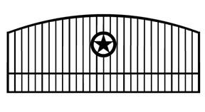 288x158 Custom Iron Diveway Gates , Texas