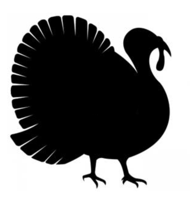 632x688 Thanksgiving Clipart Silhouette