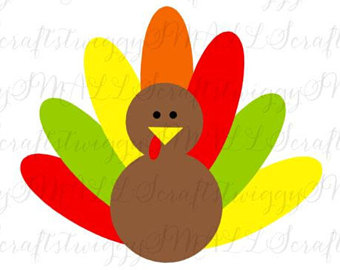 340x270 Thanksgiving Svg Files Turkey Silhouette Thanksgiving