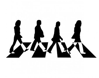 beatles silhouette abbey road at getdrawings com free for personal