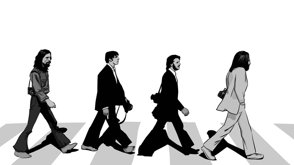 The Beatles Abbey Road Silhouette At GetDrawings