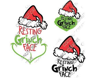 340x270 Image Result For Grinch Face Pattern Svg My Silhouette