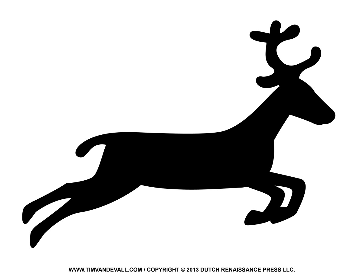 1200x927 Reindeer Silhouette Printable Tagged With Coloring Pages Reindeer