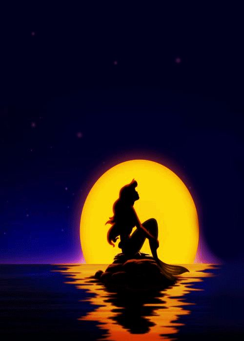 The Little Mermaid Silhouette at GetDrawings.com | Free for personal ...