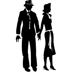 300x300 Couple Silhouette Clipart, Cliparts Of Couple Silhouette Free
