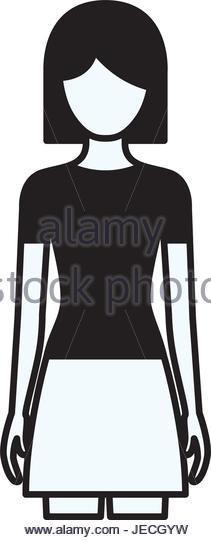 211x540 Silhouette Girl Black Hair Short Stock Photos Amp Silhouette Girl