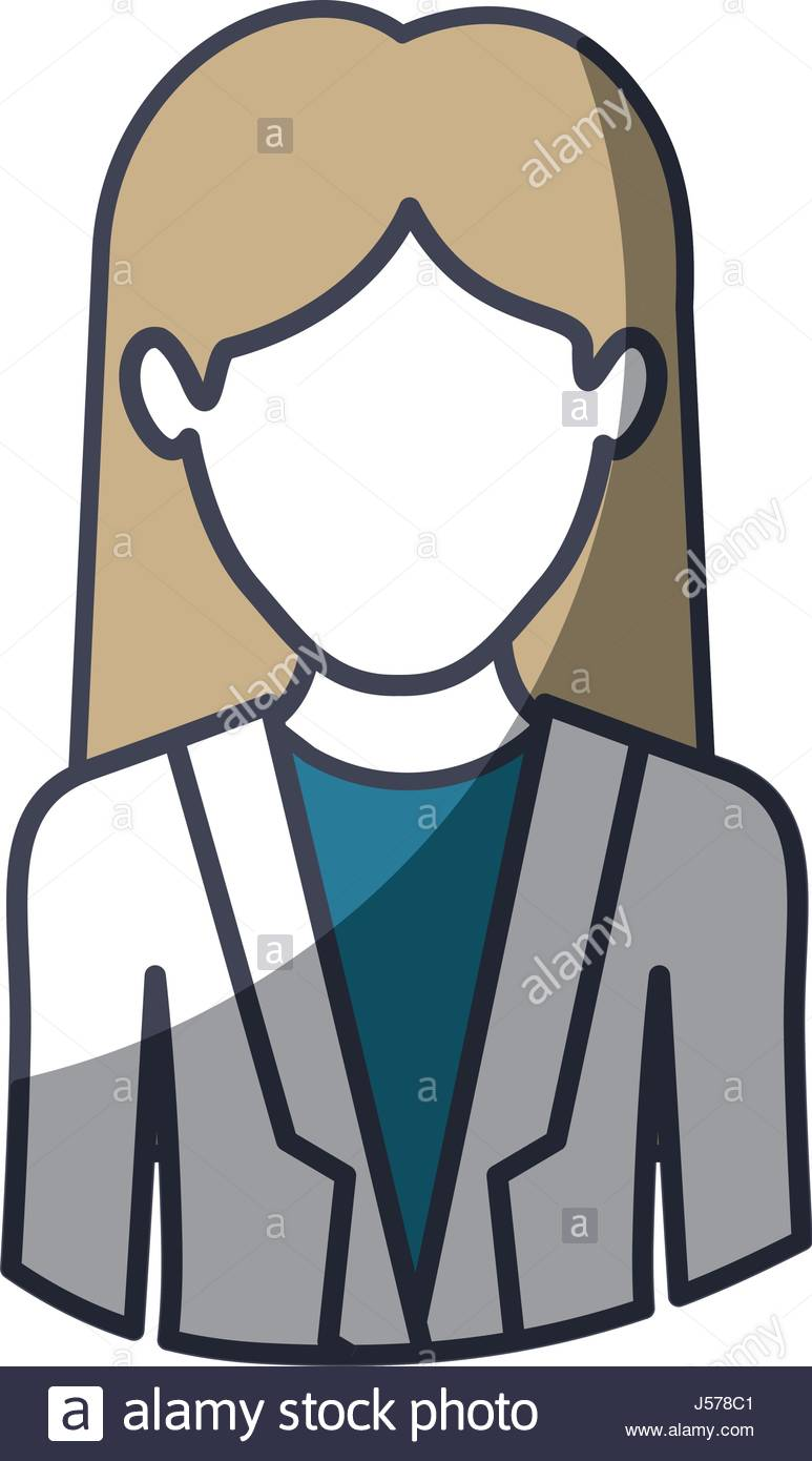 773x1390 Color Silhouette And Thick Contour Of Half Body Of Faceless Woman