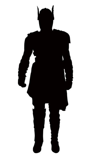 314x540 Marvel Select Gladiator Thor Figure Silhouette