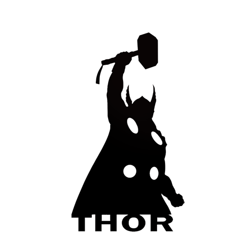500x500 Thor Die Cut Vinyl Decal Pv643 Cricut, Silhouettes And Stenciling