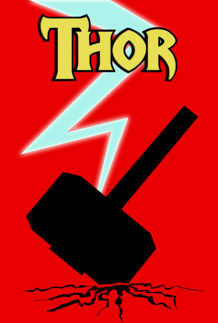 734x1087 Thor Hammer Poster By Fly Technique