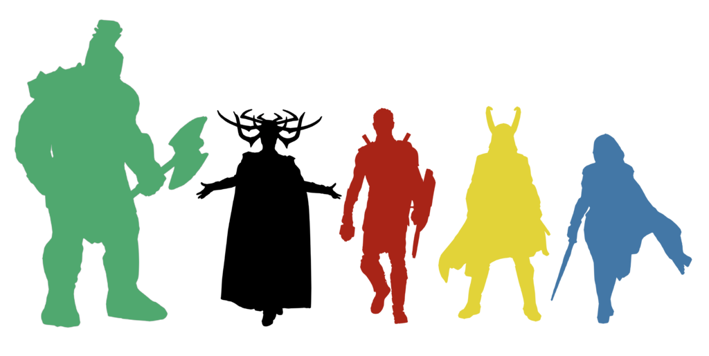 1024x514 Thor Ragnarok Silhouettes By Maytheforcebewithyou