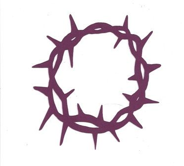 372x336 Crown Of Thorns Silhouette In Passion Color Purple By Hilemanhouse
