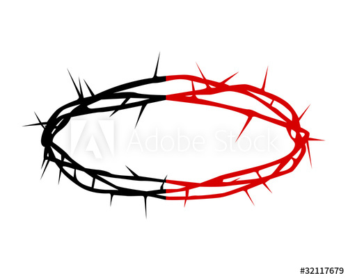 500x400 Black And Red Silhouette Of A Crown Of Thorns