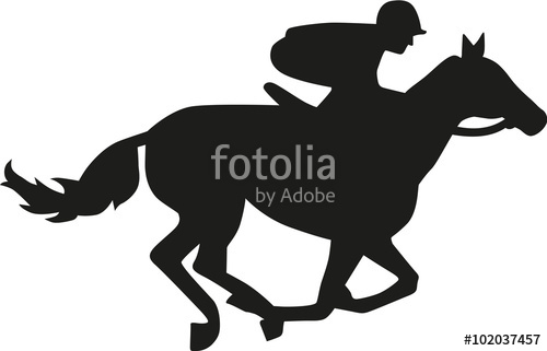 500x321 Horse Race Silhouette Stock Image And Royalty Free Vector Files